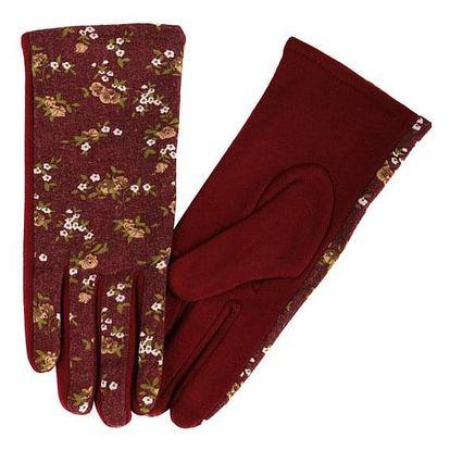 Dámské rukavice s květinovým potiskem