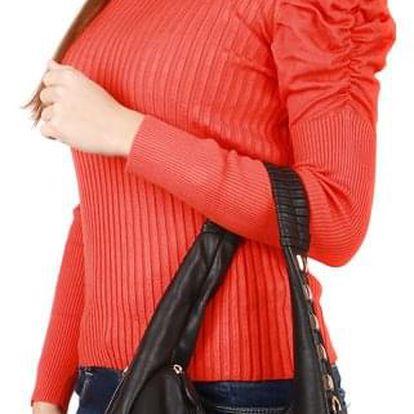 Dámský elegantní svetřík s nabíraným rukávem