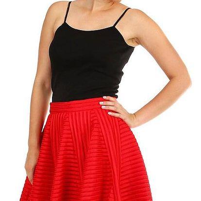 Dámská půlkolová skládaná sukně