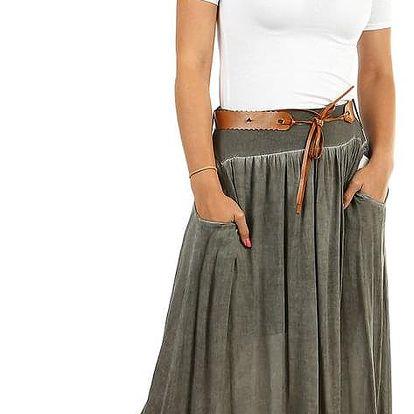 Romantická dlouhá sukně s kapsami
