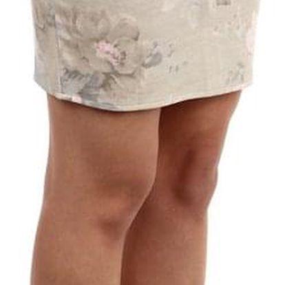 Dámská pouzdrová sukně s květinovým vzorem