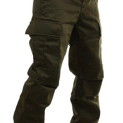 Jednobarevné pánské kalhoty kapsáče