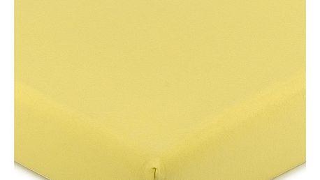 4Home Jersey prostěradlo s elastanem žlutá, 180 x 200 cm