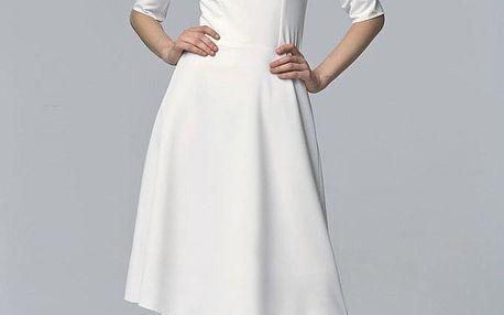 Společenské šaty s tříčtvrtečními rukávy