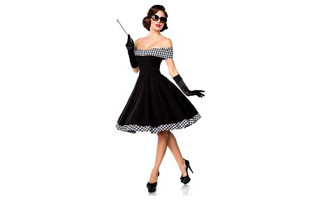 Společenské retro šaty s odhalenými rameny