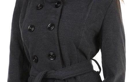 Dámský kabát s páskem- i pro plnoštíhlé