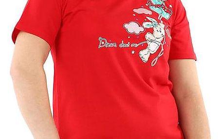 Jednobarevná noční košilka s potiskem