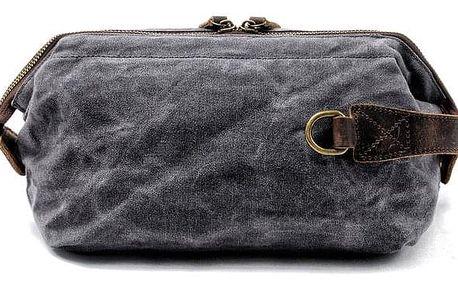Velká plátěná kosmetická taška