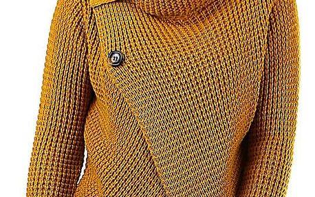 Pletený dámský svetr s knoflíky