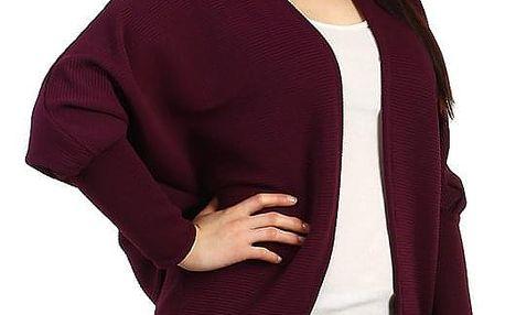 Oversized svetr bez zapínání - i pro plnoštíhlé