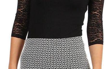 Dámská pouzdrová sukně se vzorem - i pro plnoštíhlé