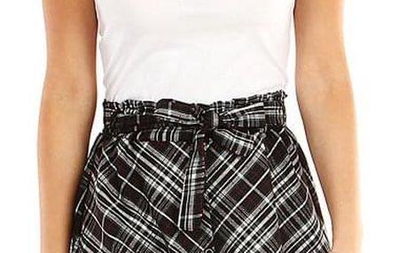 Dámská áčková sukně s kostkovaným vzorem