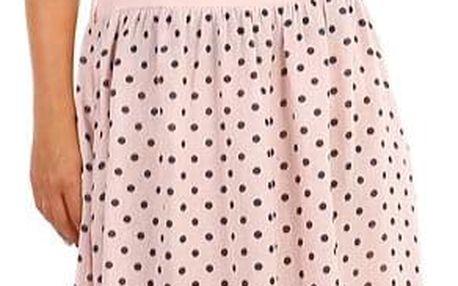Lněná dámská retro sukně s kapsami