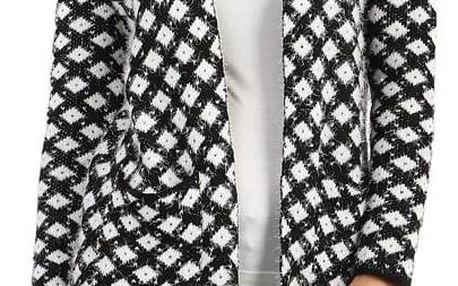 Pletený kabátek se vzorem