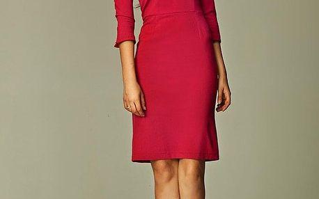 Pouzdrové společenské šaty s 3/4 rukávem