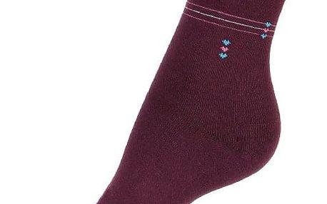 Dámské bavlněné ponožky s proužkou