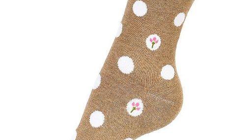 Dámské ponožky s květy