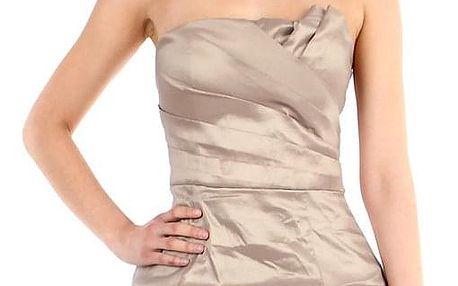 Dámské nabírané šaty bez ramínek