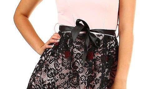 Dámské společenské krátké šaty s krajkou