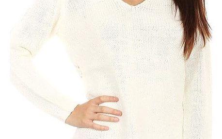 Dámský pletený svetr s ornamenty na zádech