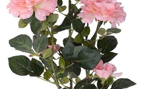 Umělá stromková růže v květináči růžová, 70 cm