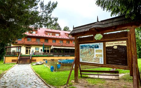 Beskydy v hotelu Cherry u přehrady, s polopenzí a vstupem do solné jeskyne