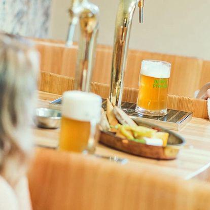 Pobyt v rodinném pivovaru s jídlem i pivní lázní