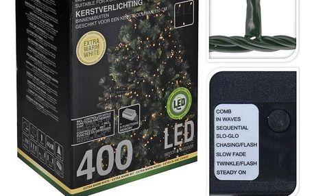 Vánoční světelný řetěz Cluster, 400 mini teplá LED