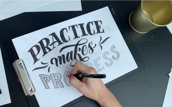 Online kurzu letteringu pro začátečníky2