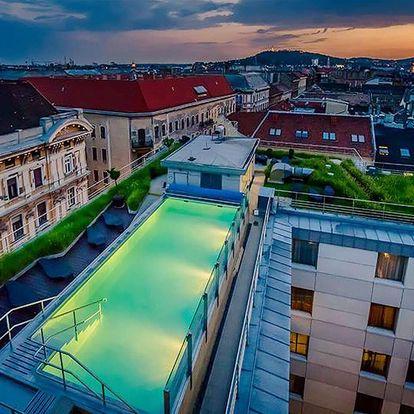 Hotel Continental **** se střešním wellness v centru Budapešti