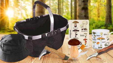 Pro houbaře: nožíky, hrníčky i set s košíkem