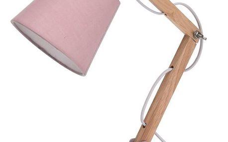 Koopman Stolní lampa Pastel tones růžová, 45 cm