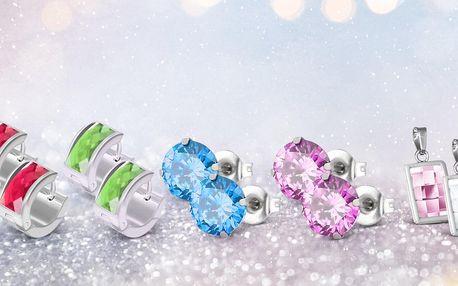 Náušnice a přívěsky: krystalky Swarovski Elements