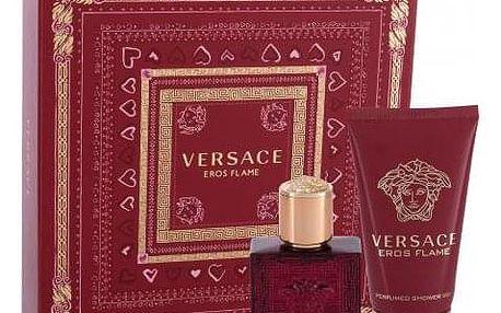 Versace Eros Flame dárková kazeta pro muže parfémovaná voda 30 ml + sprchový gel 50 ml