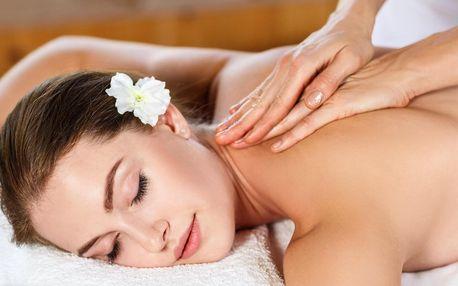 60minutová masáž a zábal podle výběru