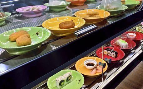2 hod. neomezeného hodování running sushi