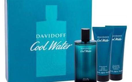 Davidoff Cool Water dárková kazeta pro muže toaletní voda 125 ml + balzám po holení 75 ml + sprchový gel 75 ml