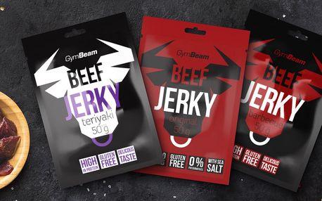 Sušené maso Beef Jerky: original, teriyaki, barbecue