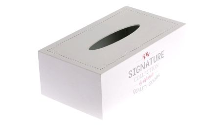 Dřevěná krabička na kapesníky Signature, 24 x 14 x 8,5 cm