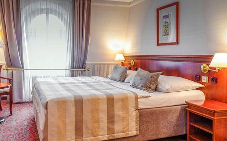 4* hotel na Václavském nám. s večeří u Pinkasů