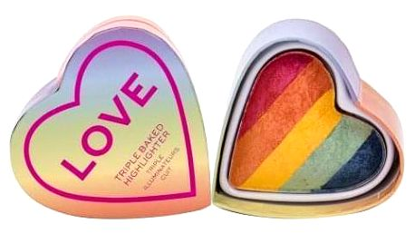 Makeup Revolution London I Heart Revolution Triple Baked Highlighter 10 g zapečený rozjasňovač pro ženy Pride