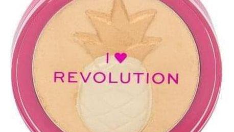 Makeup Revolution London I Heart Revolution Fruity Highlighter 9,15 g pudrový rozjasňovač pro ženy Pineapple
