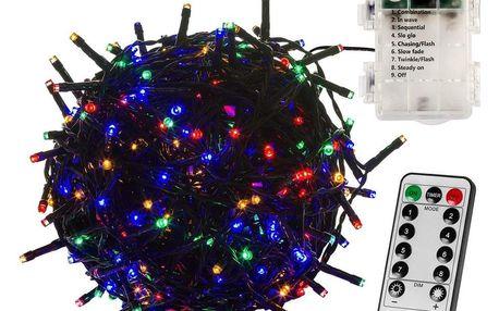 VOLTRONIC® 67414 Vánoční řetěz - 20 m, 200 LED, barevný, na baterie