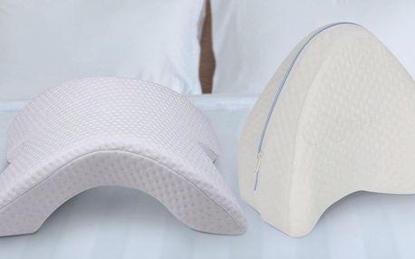 Paměťové ortopedické polštáře pod hlavu i mezi kolena