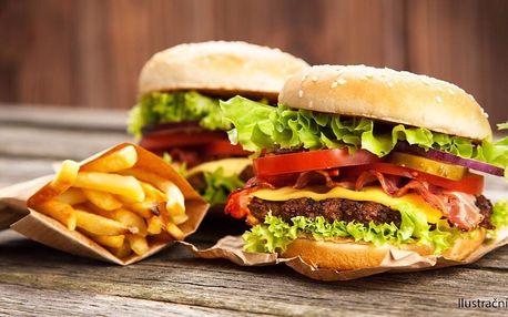 Pořádně nacpané burgery s přílohou pro 1 či 2 os.
