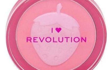 Makeup Revolution London I Heart Revolution Fruity Blusher 9,2 g pudrová tvářenka pro ženy Strawberry