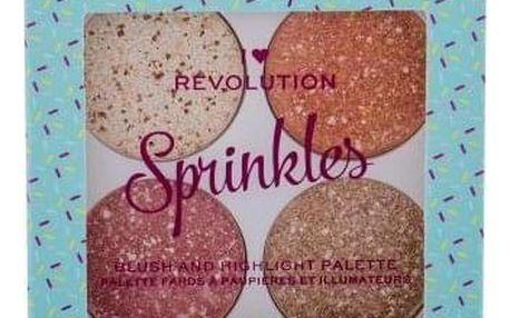 Makeup Revolution London I Heart Revolution Sprinkles 6 g paletka rozjasňujících tvářenek pro ženy Frosted Cupcake