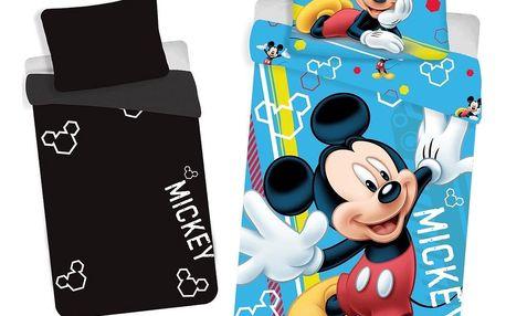 Jerry Fabrics Dětské bavlněné svíticí povlečení Mickey, 140 x 200 cm, 70 x 90 cm