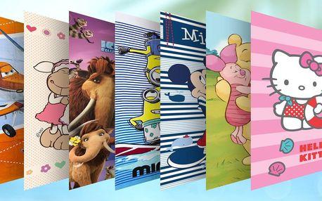 Bavlněné osušky s motivy od Disneyho: 12 pohádek