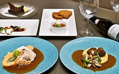 5chodové degustační menu se zvěřinou pro 2 osoby
